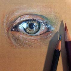 art sketches art drawings pencil drawings polychromos realistic eye watercolor pencils eye art sketch painting color pencil art