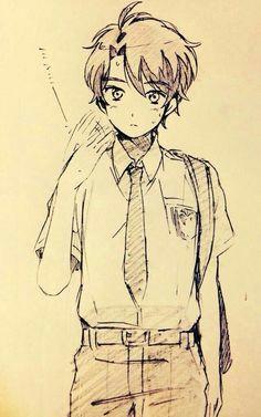 aldnoah zero a kaizuka inaho anime manga drawing anime drawings sketches boy drawing
