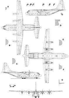 lockheed c 130 hercules blueprint
