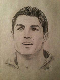 cristiano ronaldo pencil drawing