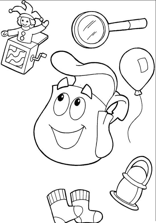 Drawing Cartoon Dora Appliances Dora the Explorer Coloring for Kids Dora the Explorer