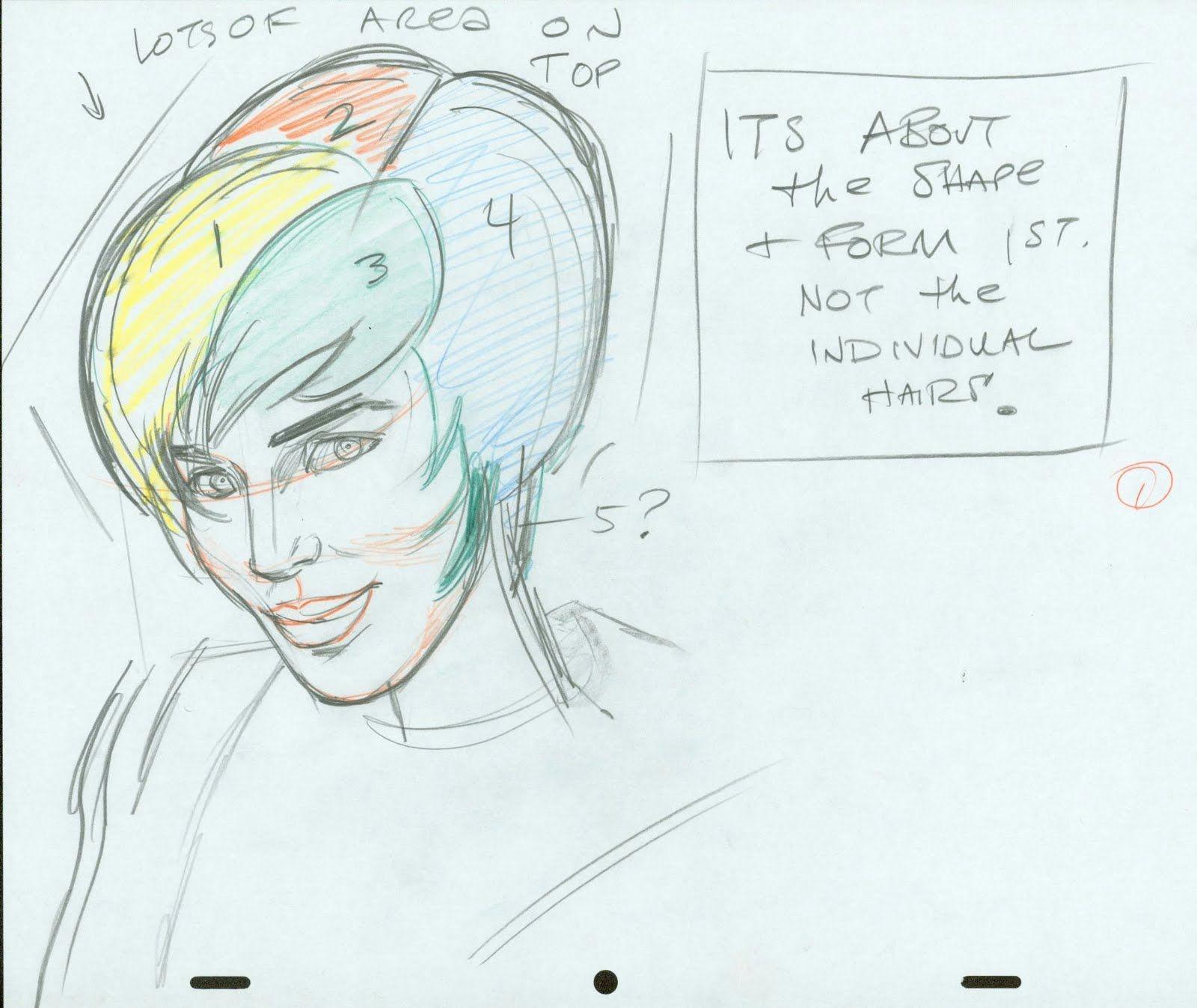 Drawing Cartoon Exercises John K Stuff Cartoonist Warm Up Exercises Girls Hair Drawing