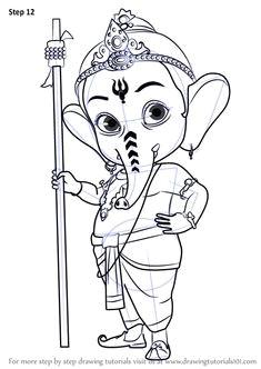 Drawing Cartoon Ganesh 180 Best Sketch Images