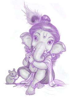 bal ganesha as lord krishna