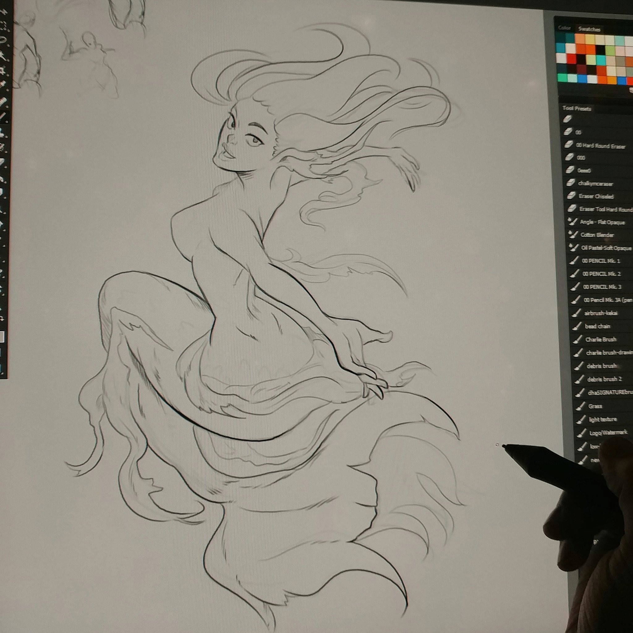 danhowardart on twitter this morning s mermay sketch drawing art cintiq madewithwacom