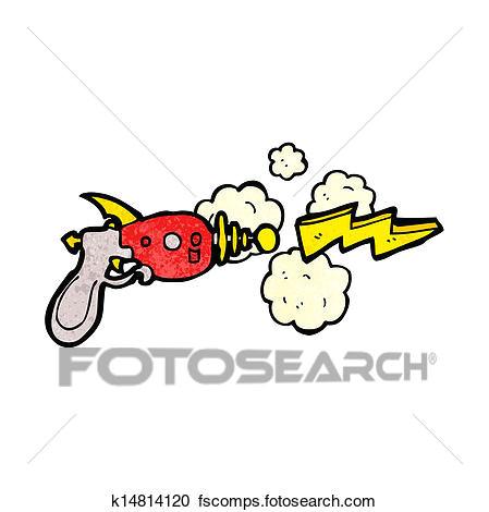 clipart ray gun cartoon fotosearch search clip art illustration murals drawings