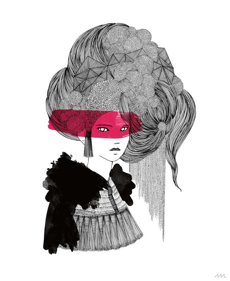 by marta ludwiszewska with rotring pens www martiszuludvikez com