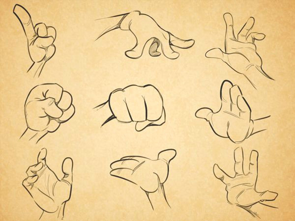Drawing Cartoon Hands and Feet Cartoon Fundamentals How to Draw Cartoon Hands Art Pinterest