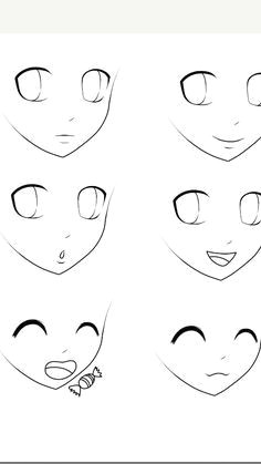 Drawing Cartoon Human Face Anime Style Heads Drawing Not Mine Madambabeartsycraftsy In