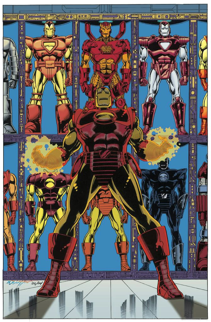 iron man hall of armors super hero art comic drawing real iron man