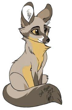 bat eared fox by artistmaz on deviantart cartoon painting cartoon art bat eared fox
