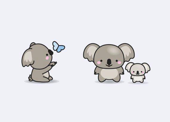 premium vector clipart kawaii koala cute koalas clipart etsy