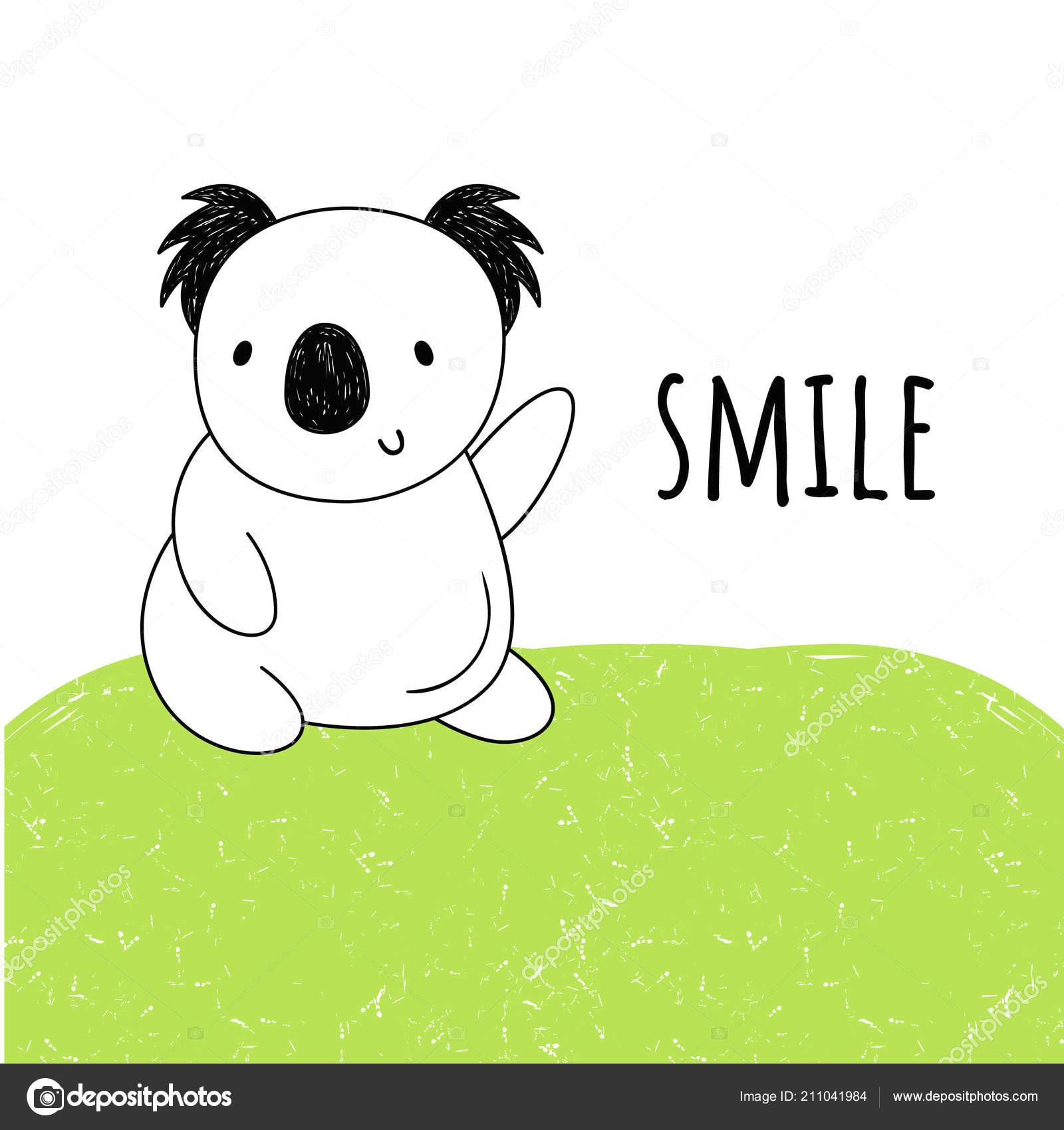 vector illustration of koala the cartoon style vektor od miss olka inbox ru