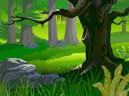 free forest landscape vector background