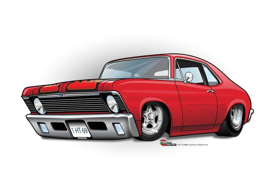 2 the cartoon speed shop rat fink chevy muscle cars truck art