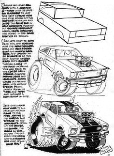 george trosley how to draw cars cartoon