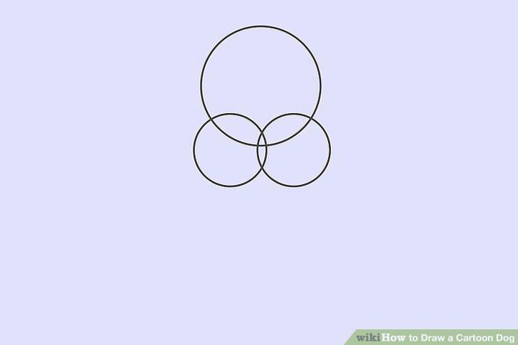 image titled draw a cartoon dog step 1