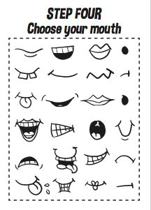 how to draw cartoon faces kids printable worksheets how to draw e book cartoon character classroom activity kids activity book