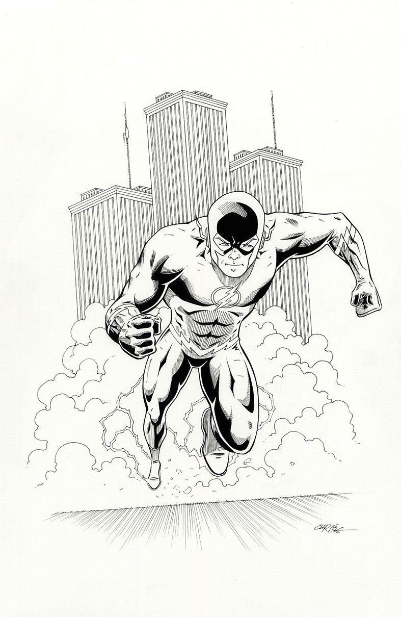 the flash original comic art chris ring ebay