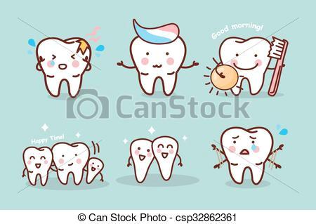 cute cartoon tooth brush concept csp32862361