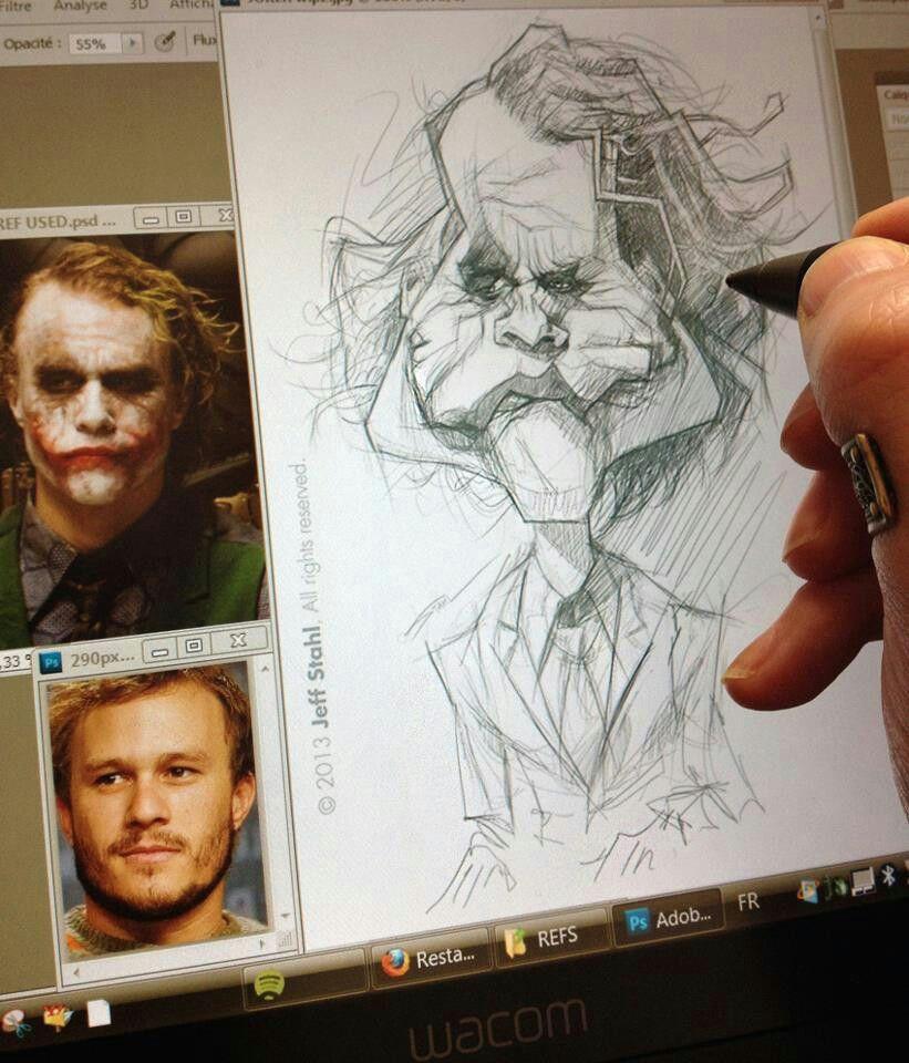 jeff stahl drawing sketches cartoon drawings art drawings character drawing croquis