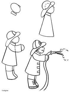 how to draw a fireman drawing lessons for kids drawing skills drawing techniques