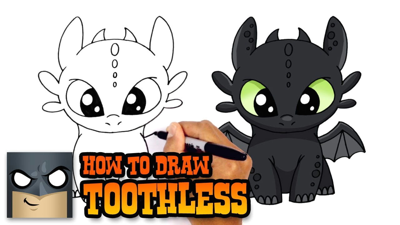 how to draw toothless how to train your dragon