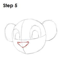 draw simba step 5 disney character drawings disney drawings cartoon drawings cute drawings