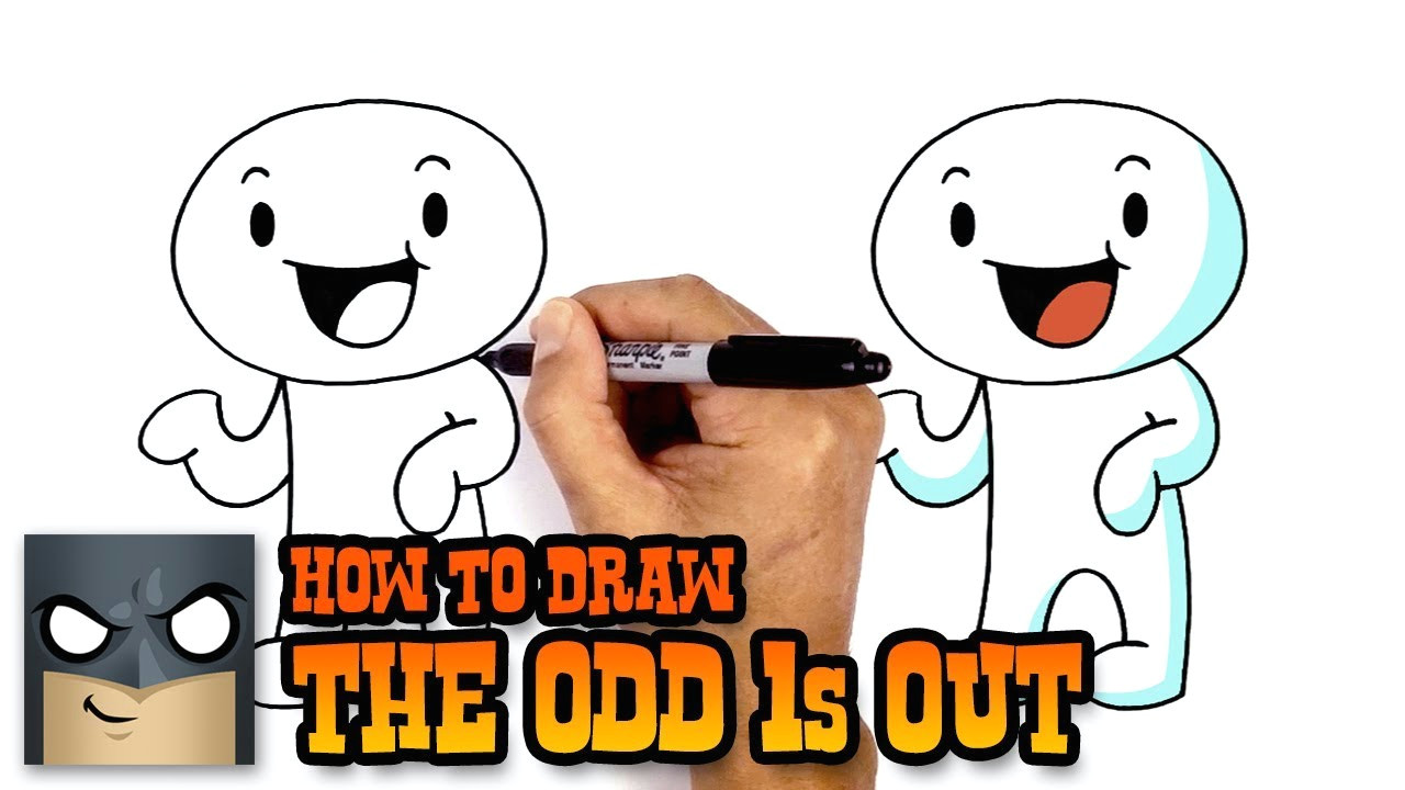 how to draw and color the odd 1s out