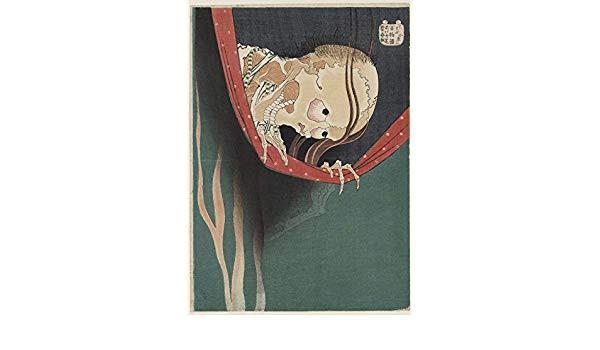 spiffing prints katsushika hokusai a ghost amazon de kuche haushalt