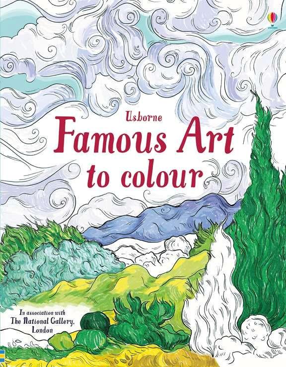 famous art to colour usborne wishlist pinterest homeschool art and famous art