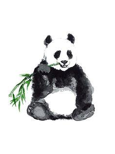 giant panda minimalist painting by joanna szmerdt bear art minimalist painting minimalist art