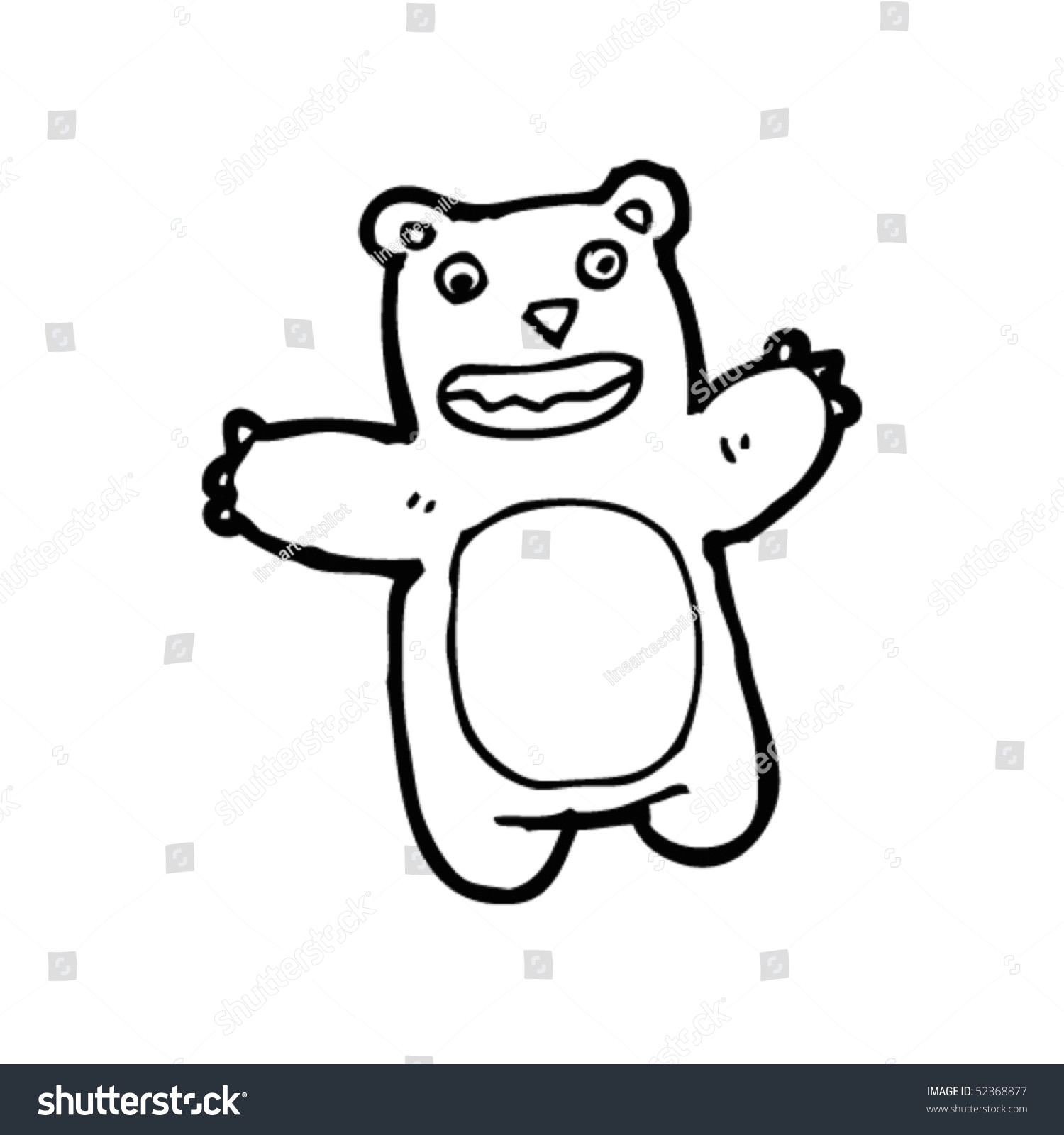 stock vector quirky drawing of a teddy bear 52368877 jpg