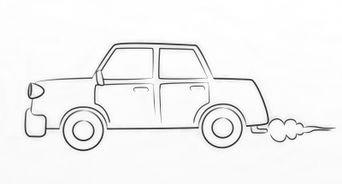 draw a cartoon car