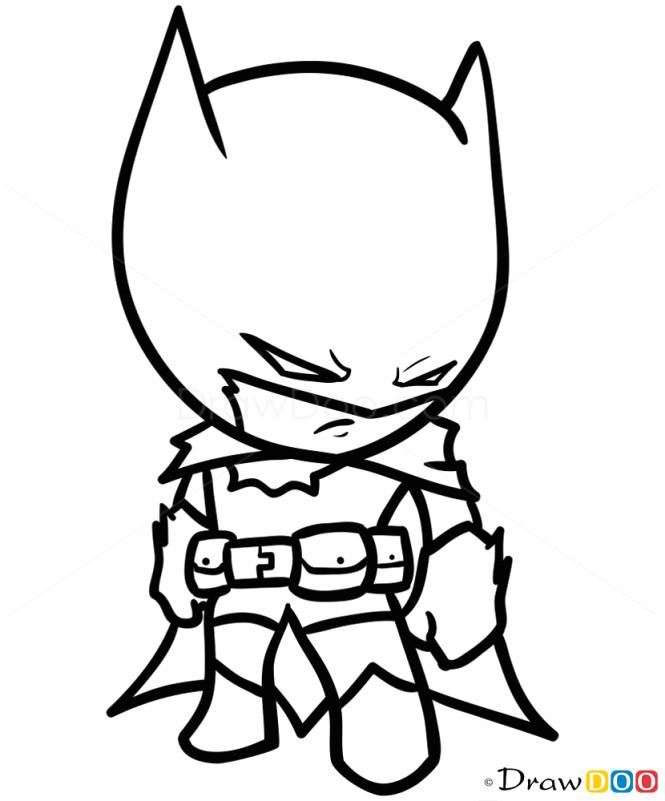 Drawing Cartoons Chibi How to Draw Batman Chibi How to Draw Drawing Ideas Draw