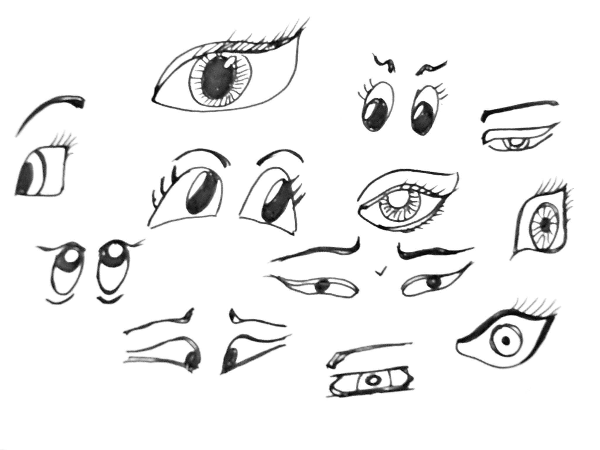 easy how to draw cartoons how to draw cartoon eyes easy ingrid