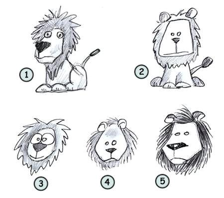 how to draw a cartoon lion step 4