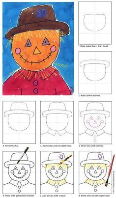 draw a scarecrow pdf tutorial download available howtodraw scarecrow scarecrow face