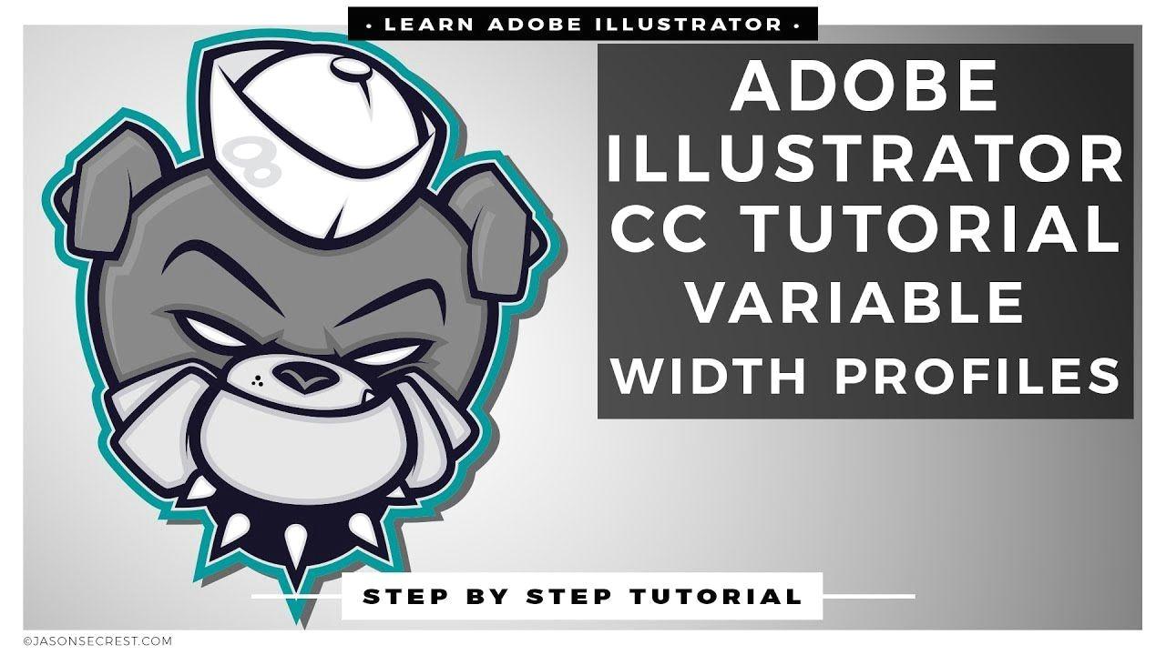 adobe illustrator cc tutorial using variable width profiles adobeillustratortutorial