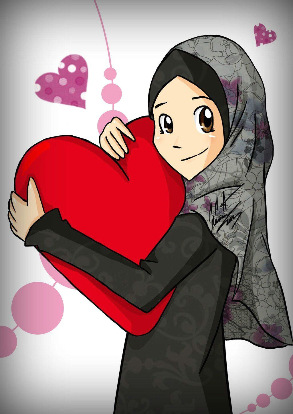 big heart d by madimar deviantart com on deviantart hijab cartoon