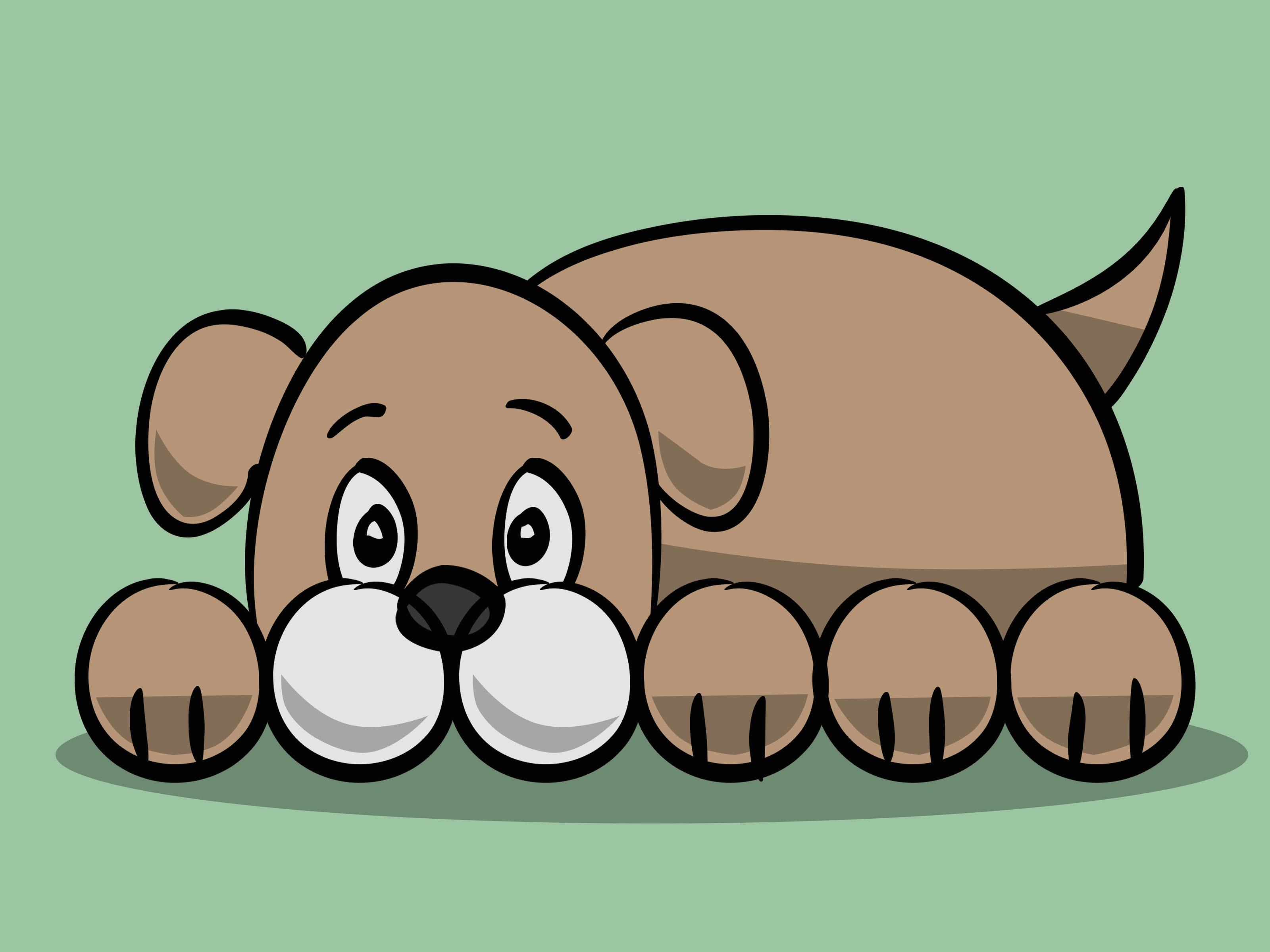 draw a simple cartoon dog step 11 version 3 jpg