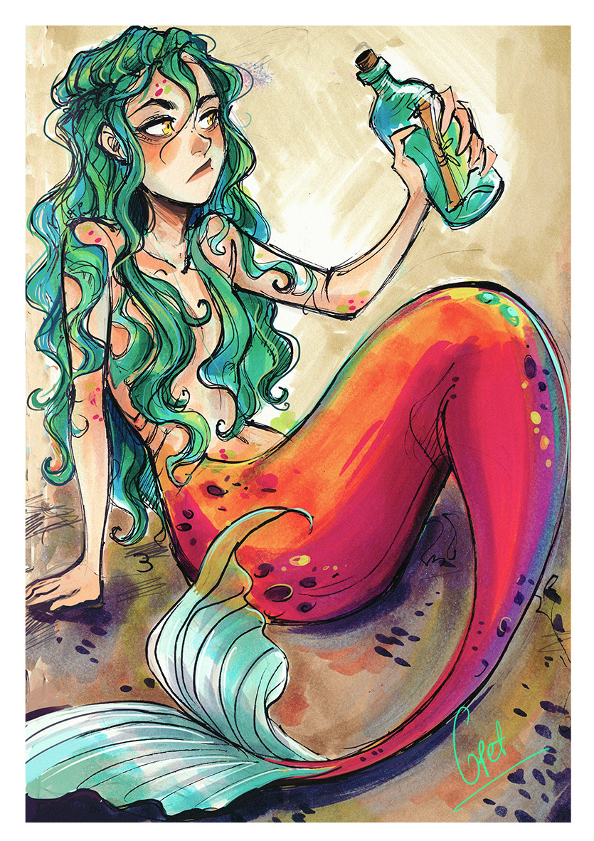 gretel lusky photo mermaid drawings art drawings mermaid artwork siren mermaid