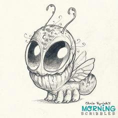 morning scribbles 299 cute monsters drawingsweird drawingscartoon