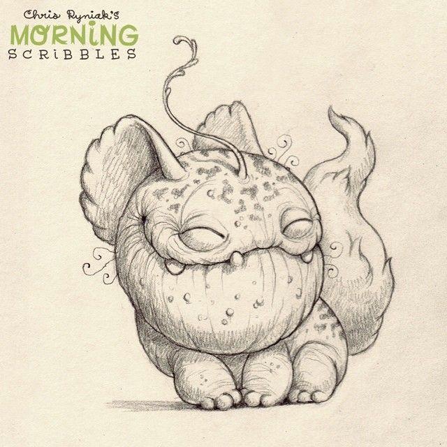 chris ryniak morning scribbles cartoon monsters cute drawings cute monsters drawings cartoon