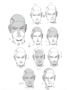 faces shaded 10 ways by whytmanga figure sketching figure drawing reference learn art