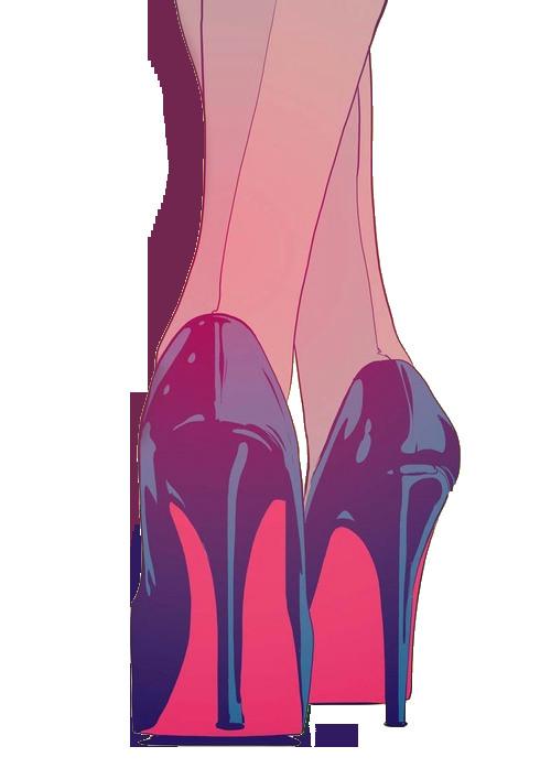 drawing art girl tumblr fashion heels shoes cartoon black grunge givenchyshoeshighheels fashiontrendsgrunge