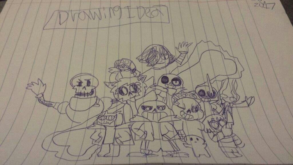 Drawing Cartoons Undertale Drawing Idea Done Undertale Amino