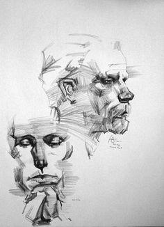 2b charcoal pencil on 18x24 newsprint 20 minute henry yan studies conceptart org