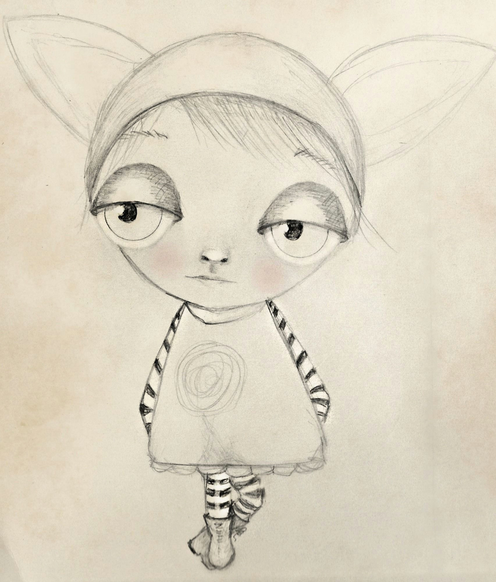 in my rabbit hat cool drawings pencil drawings colouring rabbit bunny