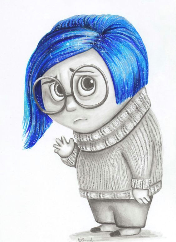 sadness from inside out movie color drawing
